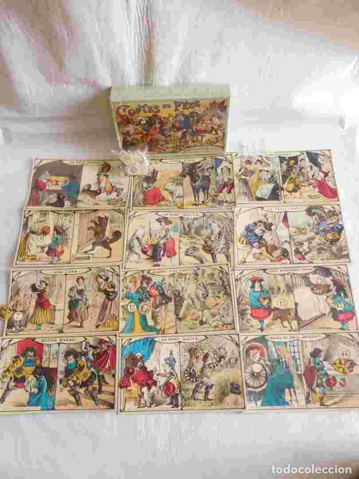 M69 JUEGO DE LOTERÍA CONTES DE FEES. CONTIENE 12 CARTONES ILUSTRADOS Y MÓVILES DE CUENTOS INFANTILES (Juguetes - Juegos - Juegos de Mesa)