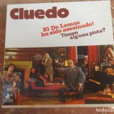 Juegos de mesa: CLUEDO-JUEGO DE BORRAS-ORIGINAL AÑOS 70-UN JUEGO DE DETECTIVES. Lote 131788162