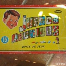Juegos de mesa: JUEGOS REUNIDOS-BOITE DE JEUX-GEYPER-ORIGINAL AÑOS 70. Lote 131788270