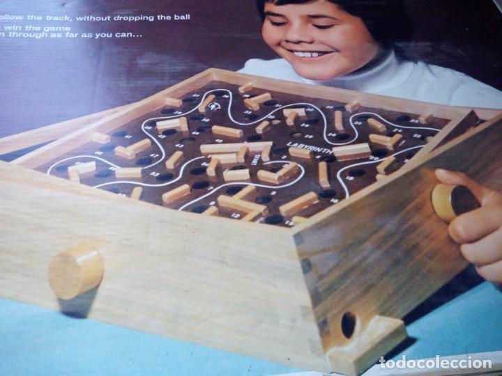 Juegos de mesa: laberinto de madera ,estrella labyrinth juego made in brazil 1964,en caja original. - Foto 2 - 132112922