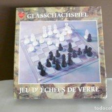 Juegos de mesa: AJEDREZ DE CRISTAL - NUEVO -A ESTRENAR - 20 X 20 CMS.. Lote 132361630