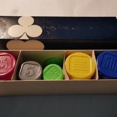 Juegos de mesa: LOTE FICHAS DE POKER - CAR100. Lote 132520322