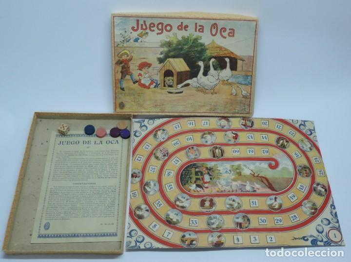 ANTIGUO JUEGO DE LA OCA, COMPLETAMENTE ORIGINAL, CON INSTRUCCIONES,º LA CAJA DE CARTON MIDE 25,5 X 1 (Juguetes - Juegos - Juegos de Mesa)
