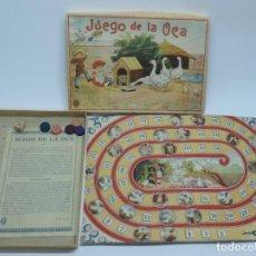 Juegos de mesa: ANTIGUO JUEGO DE LA OCA, COMPLETAMENTE ORIGINAL, CON INSTRUCCIONES,º LA CAJA DE CARTON MIDE 25,5 X 1. Lote 132623598