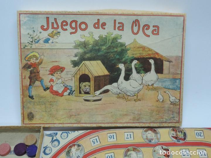 Juegos de mesa: ANTIGUO JUEGO DE LA OCA, COMPLETAMENTE ORIGINAL, CON INSTRUCCIONES,º la caja de carton mide 25,5 X 1 - Foto 2 - 132623598