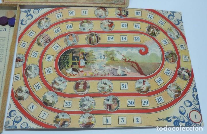 Juegos de mesa: ANTIGUO JUEGO DE LA OCA, COMPLETAMENTE ORIGINAL, CON INSTRUCCIONES,º la caja de carton mide 25,5 X 1 - Foto 3 - 132623598