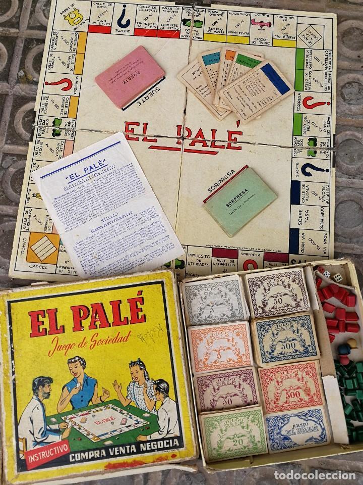 JUEGO DE MESA - EL PALÉ, JUEGO DE SOCIEDAD, EN CAJA ORIGINAL E INSTRUCCIONES, AÑOS 50- COMPLETO!!! (Juguetes - Juegos - Juegos de Mesa)
