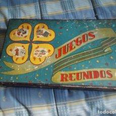 Juegos de mesa: ANTIGA CAJA MADERA JUEGOS REUNIDOS. Lote 133336858