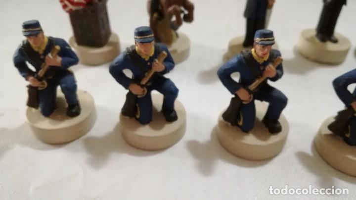 Juegos de mesa: AJEDREZ DE RESINA TEMATICO ANTIGUO OESTE AMERICANO- INDIOS- SOLDADOS - Foto 16 - 133385950