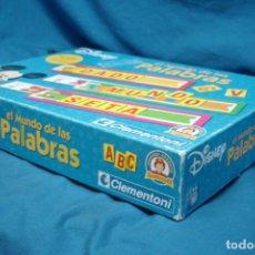 Juegos de mesa: EL MUNDO DE LAS PALABRAS DE DISNEY - CLEMENTONI SAPIENTINO. Lote 133857878