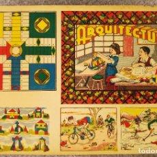 Juegos de mesa: ANTIGUA LAMINA PARA DENTRO CAJAS JUEGOS PARCHIS ARQUITECTURA. IDEAL DECORAR ENMARCAR.. Lote 134785925
