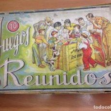 Juegos de mesa: ANTIGUA CAJA JUEGOS REUNIDOS 10 DE JUGUETES BORRAS CON INTRUCCIONES CONTIENE 8 TABLEROS DIFERENTES. Lote 135026758