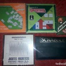 Juegos de mesa: LOTE 4 JUEGOS MAGNETICOS AÑOS 70/80 MAS REGALO BARAJA NAIPES JACK DANIELDS. Lote 135362282