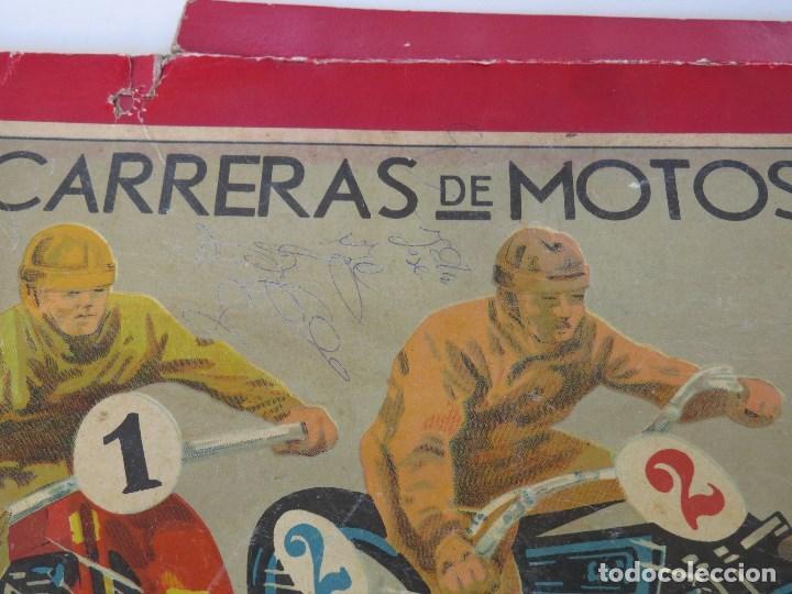 antiguo juego carreras de motos - años 30 40 - Comprar ...