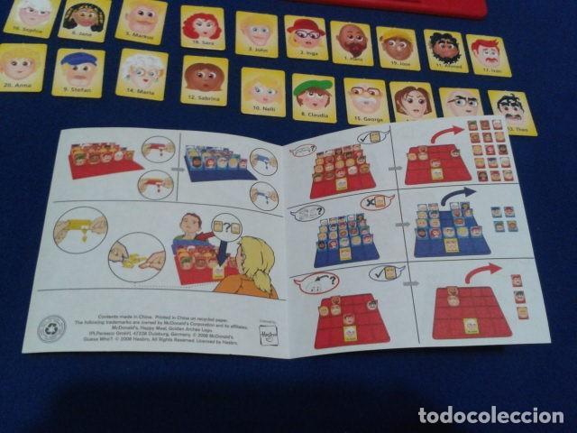 Juegos de mesa: JUEGO DE MESA ( ¿ QUIEN ES QUIEN ? ) 2008 HASBRO HAPPY MEAL COMPLETO NUEVO - Foto 4 - 136118770
