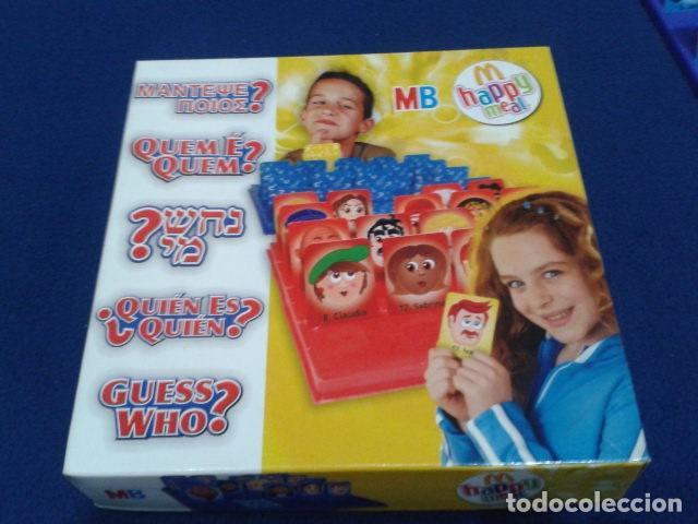 Juegos de mesa: JUEGO DE MESA ( ¿ QUIEN ES QUIEN ? ) 2008 HASBRO HAPPY MEAL COMPLETO NUEVO - Foto 6 - 136118770