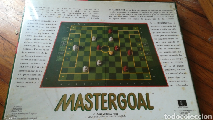 Juegos de mesa: Juego mastergoal. Nuevo. Precintado. 1992 - Foto 2 - 136810940