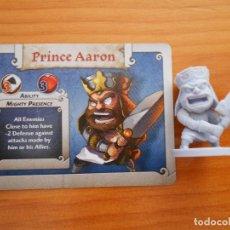 Juegos de mesa: ARCADIA QUEST - PRINCE AARON - KICKSTARTER EXCLUSIVE - FIGURA + TARJETA (DE). Lote 137447742
