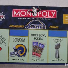 Juegos de mesa: MONOPOLY ST. LOUIS RAMS CHAMPIONS EDITION - PARKER - 2000. Lote 137880466