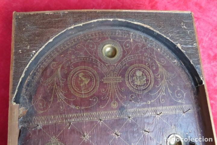 Juegos de mesa: ANTIGUO BILLARIN BILLAR MADERA - ALFONSO XIII 1898 - PIN BALL - MILLONCETE - MILLON - Foto 2 - 138240426