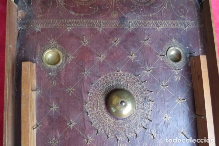 Juegos de mesa: ANTIGUO BILLARIN BILLAR MADERA - ALFONSO XIII 1898 - PIN BALL - MILLONCETE - MILLON - Foto 3 - 138240426