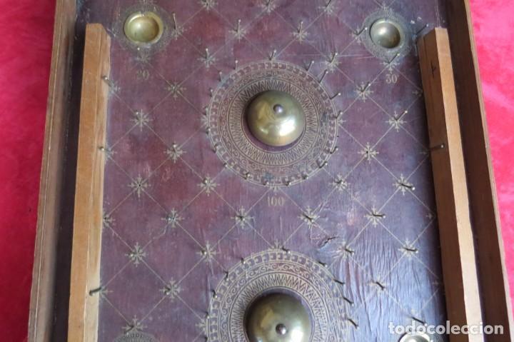 Juegos de mesa: ANTIGUO BILLARIN BILLAR MADERA - ALFONSO XIII 1898 - PIN BALL - MILLONCETE - MILLON - Foto 4 - 138240426