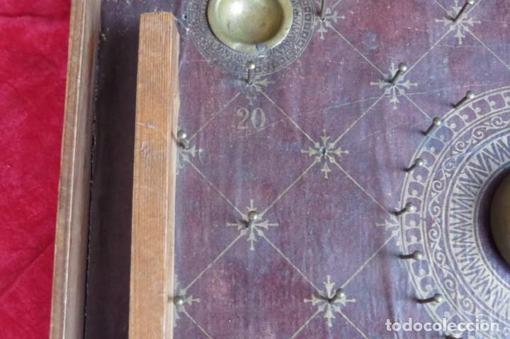 Juegos de mesa: ANTIGUO BILLARIN BILLAR MADERA - ALFONSO XIII 1898 - PIN BALL - MILLONCETE - MILLON - Foto 16 - 138240426