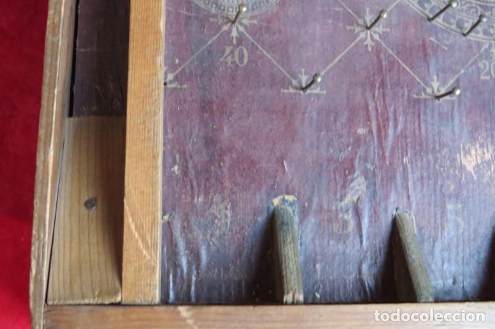 Juegos de mesa: ANTIGUO BILLARIN BILLAR MADERA - ALFONSO XIII 1898 - PIN BALL - MILLONCETE - MILLON - Foto 25 - 138240426