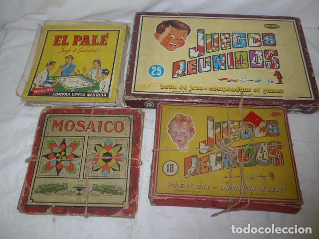 Lote 4 Juego De Mesa Antiguo El Pale Mosaico Y 2 De Juegos Reunidos Originales