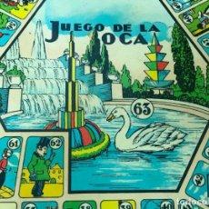 Juegos de mesa: CURIOSO TABLERO CON JUEGO DE LA OCA Y PARCHIS DE FORMA HEXAGONAL. Lote 149520517