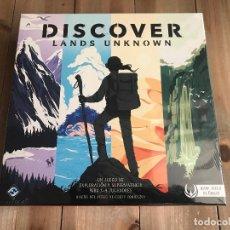 Juegos de mesa: JUEGO DE MESA - DISCOVER LANDS UNKNOWN - FFG - PRECINTADO - JUEGO UNICO. Lote 139170590