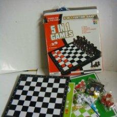 Juegos de mesa: JUEGO DE MESA 5 N 1 GAMES . Lote 139761766