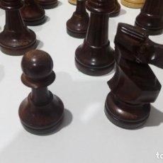 Juegos de mesa: 2 JUEGOS PIEZAS AJEDRED STAUNTON 6. MADERA.. Lote 140042222