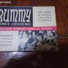 Juegos de mesa: RUMMY Y ONCE JUEGOS MÁS (JUEGOS CRONE, C.1950) COMPLETO. Lote 140179762