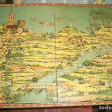Juegos de mesa: ANTIGUO TABLERO CARTÓN DE JUEGO CAZADORES MIDE 43/30,5 CM. Lote 140329714