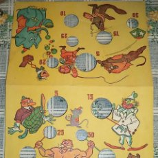 Juegos de mesa: ANTIGUO TABLERO CARTÓN DE JUEGO SALTO DE SALTAMONTES . Lote 140331502