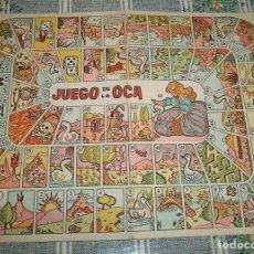 Juegos de mesa: ANTIGUO TABLERO CARTÓN DE JUEGO DE LA OCA. Lote 140333102
