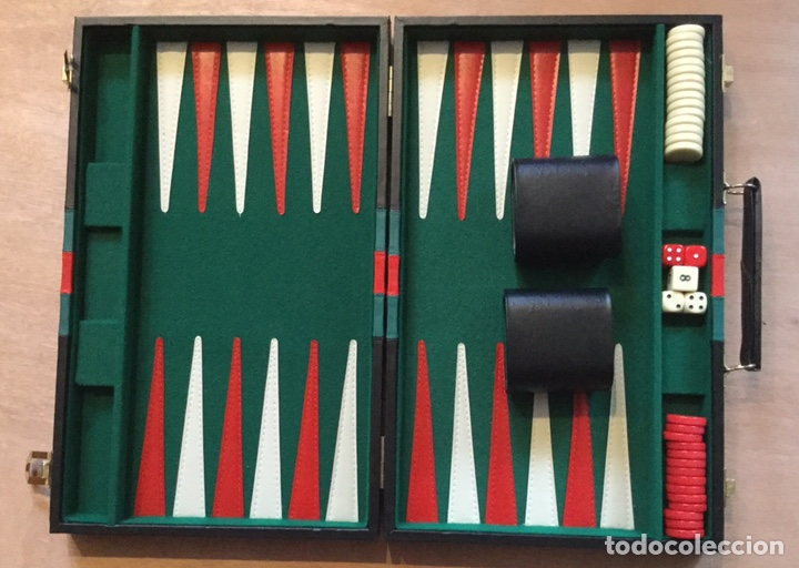 Maletin Backgammon En Piel Completo Comprar Juegos De Mesa