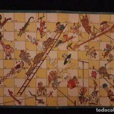 Juegos de mesa: TABLERO DEL JUEGO DE LA ESCALERA ANTIGUO CARTON 23,5 X 33 CMTS. Lote 140832534