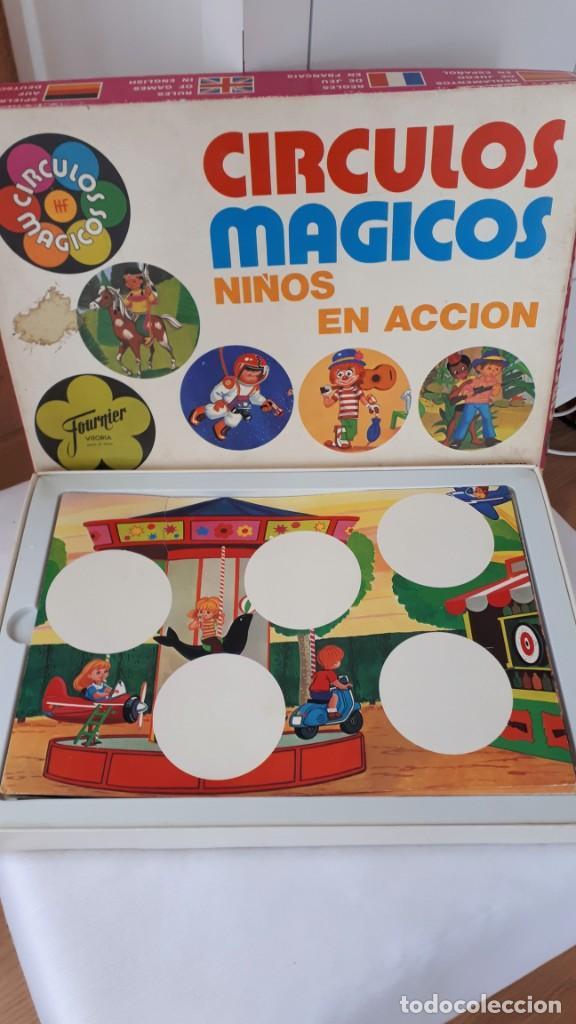 CÍRCULOS MÁGICOS, NIÑOS EN ACCIÓN, DE FOURNIER (Juguetes - Juegos - Juegos de Mesa)