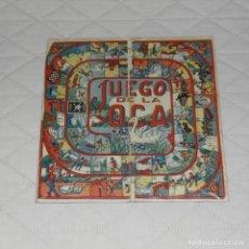 Juegos de mesa: CARTÓN OCA-TRES EN RAYA. ANTIGUO.. Lote 141121062