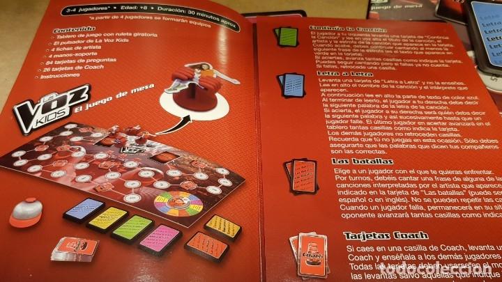 Juegos de mesa: LA VOZ KIDS / EL JUEGO DE MESA / DE FAMOSA / COMPLETO Y COMO NUEVO. / OCASIÓN. - Foto 4 - 141327278