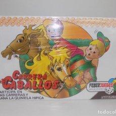 Juegos de mesa: CARRERA DE CABALLOS. MARCA FEBER. ORIGINAL AÑOS 80/90. NUEVO, A ESTRENAR!. Lote 141549470