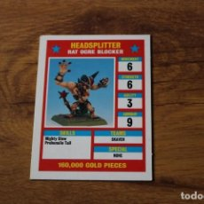 Juegos de mesa: TARJETA STAR PLAYER SKAVEN BLOOD BOWL JUEGO MESA GAMES WORKSHOP. Lote 141597750