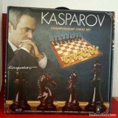 Juegos de mesa: JUEGO DE AJEDREZ KASPAROV CHAMPIONSHIP CHESS SET BY MERCHANT AMBASSADOR. Lote 141697510