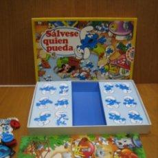 Juegos de mesa: ANTIGUO JUEGO SÁLVESE QUIEN PUEDA. LOS PITUFOS. EDUCA. Lote 142052590