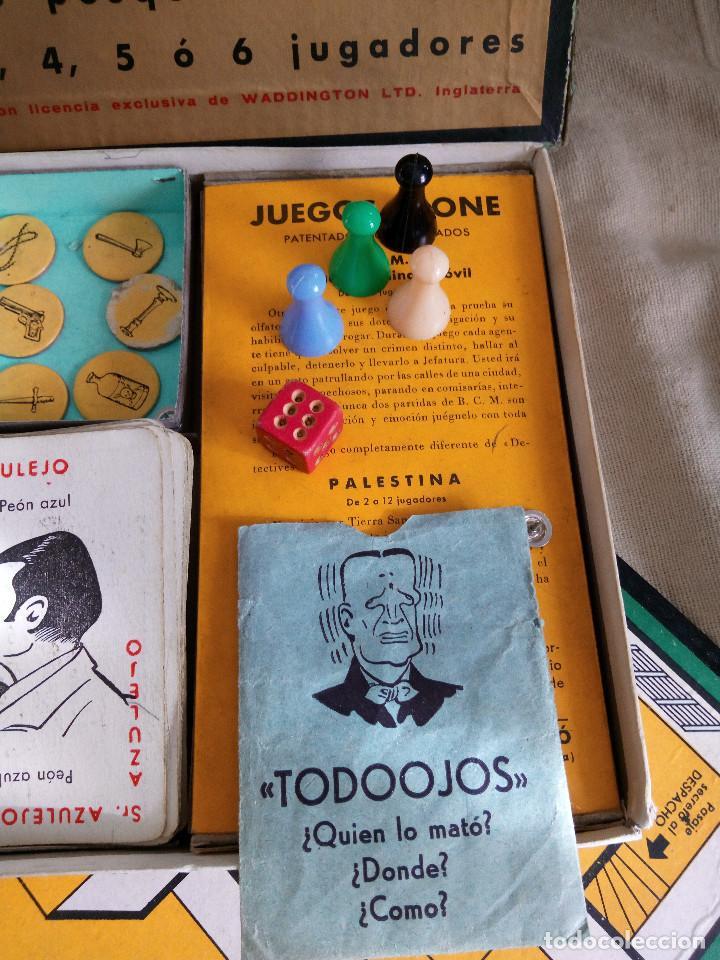 Juegos de mesa: DETECTIVES EL CASO TODOOJOS JUEGO MESA CRONE FRANCISCO ROSELLÓ AÑOS 50 POLICÍACO - Foto 2 - 142570250