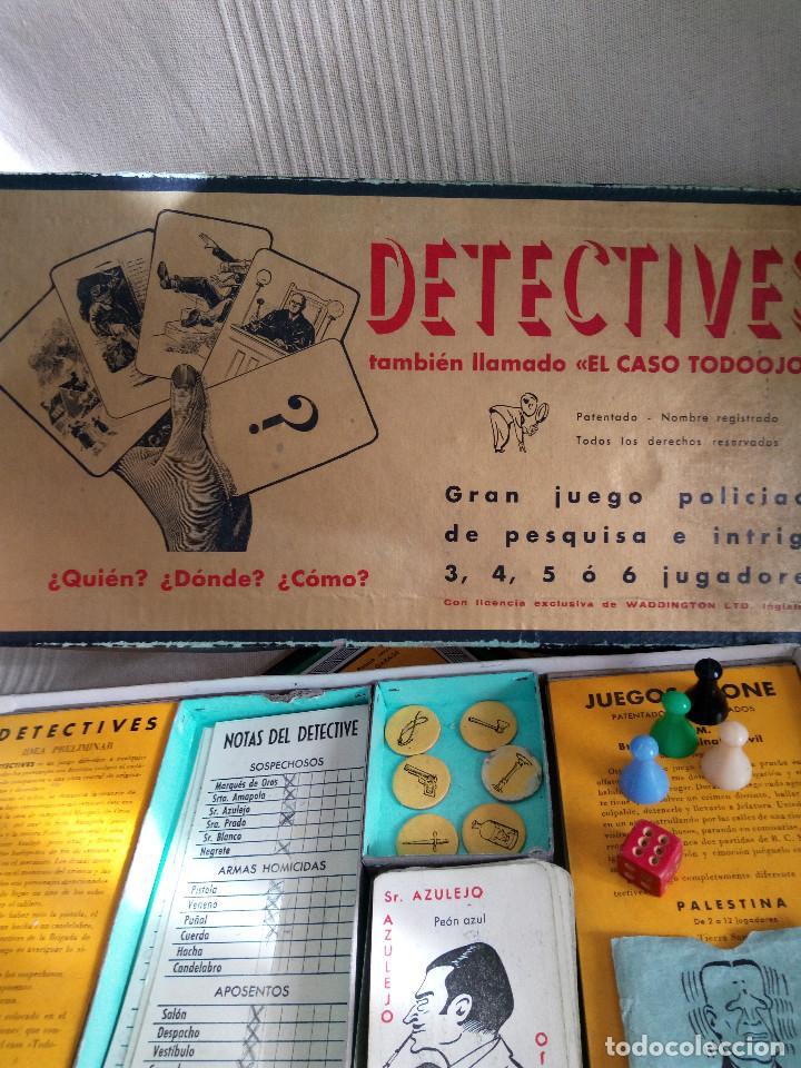 Juegos de mesa: DETECTIVES EL CASO TODOOJOS JUEGO MESA CRONE FRANCISCO ROSELLÓ AÑOS 50 POLICÍACO - Foto 4 - 142570250