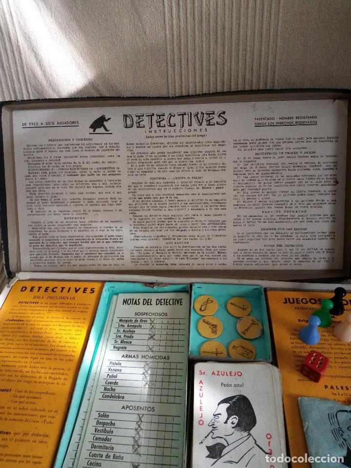 Juegos de mesa: DETECTIVES EL CASO TODOOJOS JUEGO MESA CRONE FRANCISCO ROSELLÓ AÑOS 50 POLICÍACO - Foto 5 - 142570250