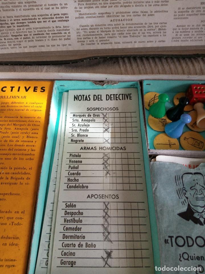 Juegos de mesa: DETECTIVES EL CASO TODOOJOS JUEGO MESA CRONE FRANCISCO ROSELLÓ AÑOS 50 POLICÍACO - Foto 6 - 142570250